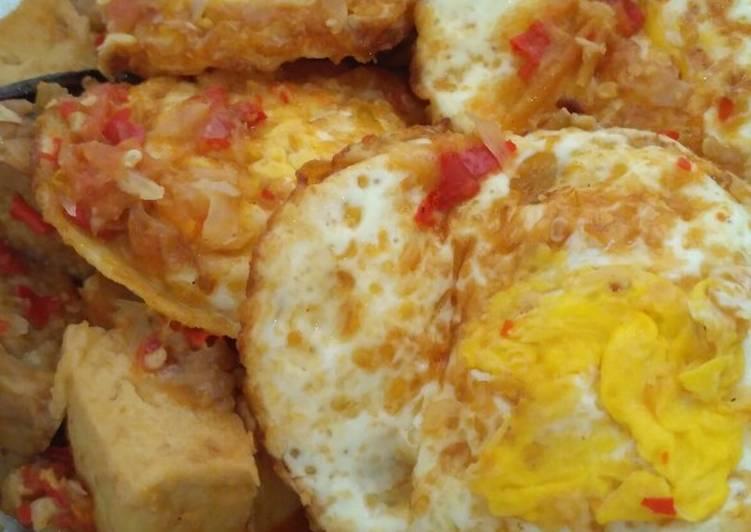 Telur Tempe Tahu Balado