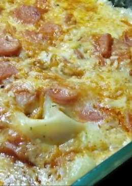 Lasagna kukus kulit pangsit