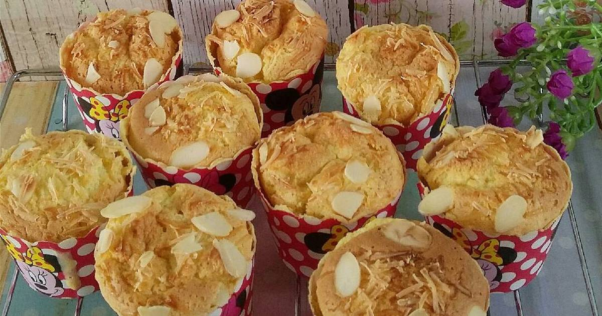 Resep Bolu Hongkong Keju Almond Super Moist dan Haruuuum