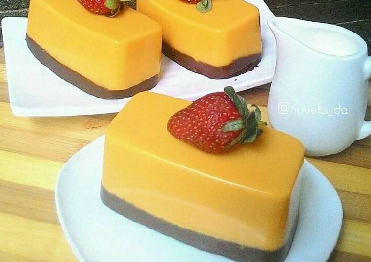 Resep Cake Kukus Labu Kuning Lapis Coklat: Resep Puding Labu Kuning Lapis Coklat Oleh Novella Dewi A