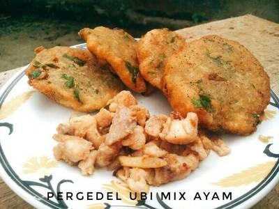 Pergedel Ubi mix Ayam No MSG #indonesiamemasak
