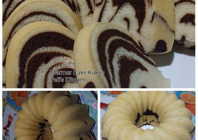 Marmer Cake Kukus