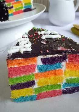 #13 RAINBOW Checkerboard Cake #seninsemangat