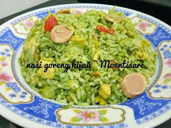 Green fried rice / nasi goreng hijau