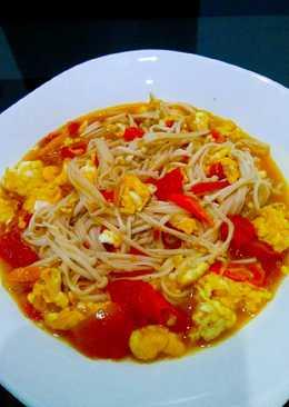 Jamur Enoki cah tomat#BikinRamadanBerkesan