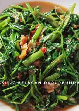 Kangkung Belacan (masakan rumahan sederhana)