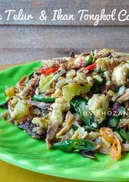 Orak Arik Telur & Ikan Tongkol Cabai Hijau
