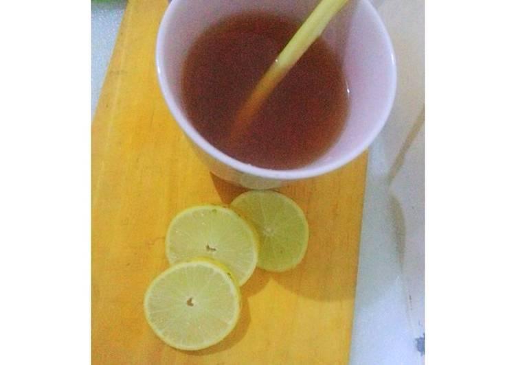 Teh Hangat Serai + lemon #bikinramadanberkesan