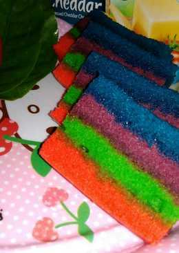 Rainbow cake kukus#BeraniBakingBeraniSharing