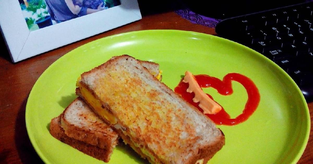 resep simple sandwich buat sarapan oleh chika rf   cookpad