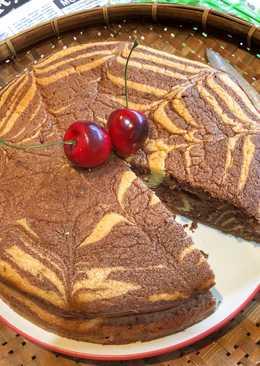 Cake Marmer Putih Telur Dapur Ghana ala Tiger Kitchen
