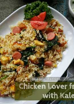 Chicken lover fried rice with kale
