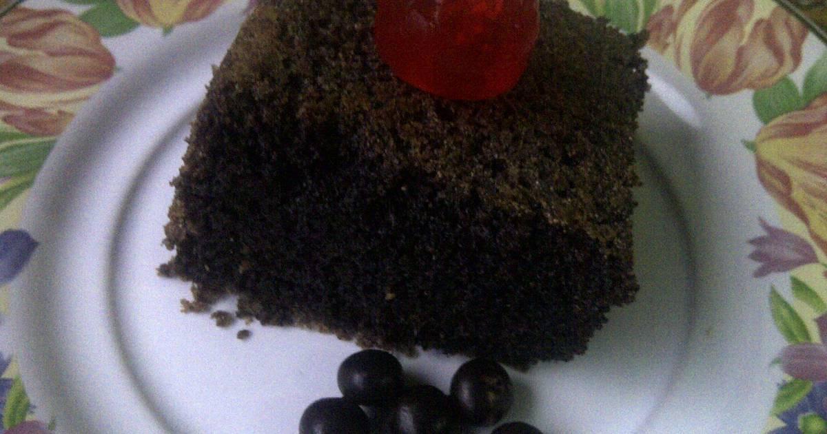 Resep Bolu ketan hitam (bakar)/ sticky rice cake (baked)