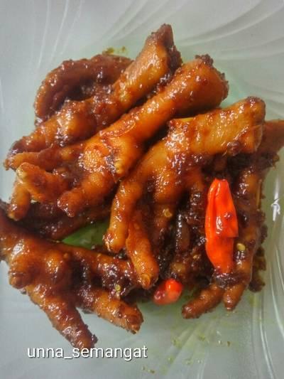 Ceker ayam kecap pedas