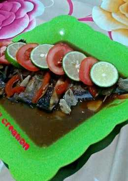 Ikan Baronang kukus saos tiram