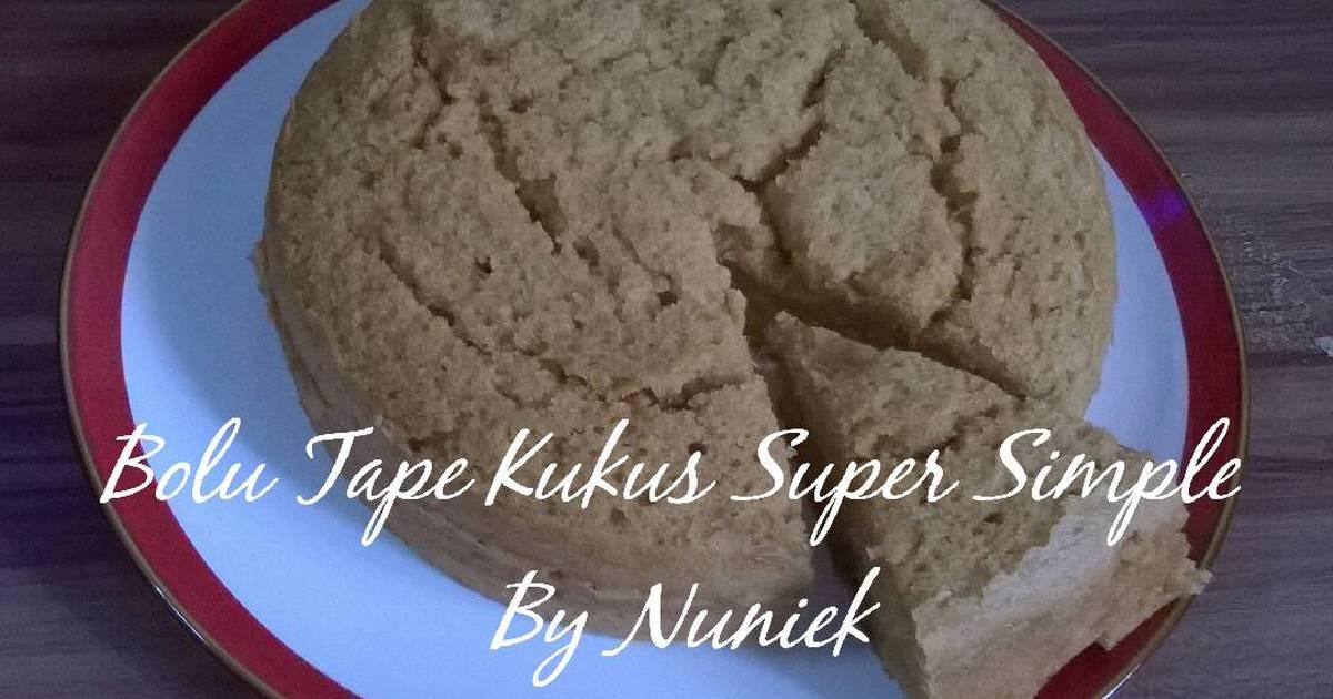 Resep BOLU TAPE KUKUS SUPER SIMPLE (Tanpa Mixer, Tanpa Telur)