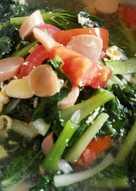 Cah sawi hijau kuah sosis tomat segerr