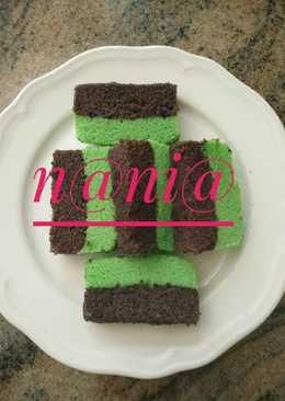 *brownies ketan hitam lapis cake pandan*