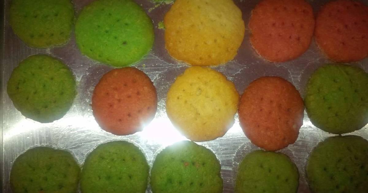 Resep cookies kelapa pelangi (mudah)