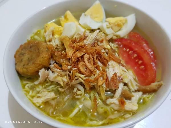 Soto Lamongan + Perkedel