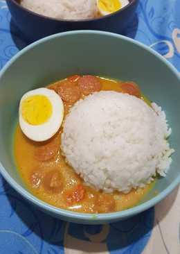 Nasi Kari ala komik jepang