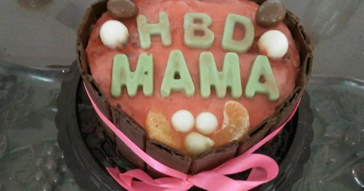 Resep Puding cake kukus ulang tahun