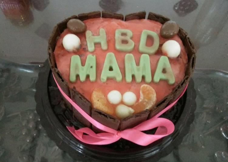 Resep Puding cake kukus ulang tahun oleh suyanti89 Cookpad