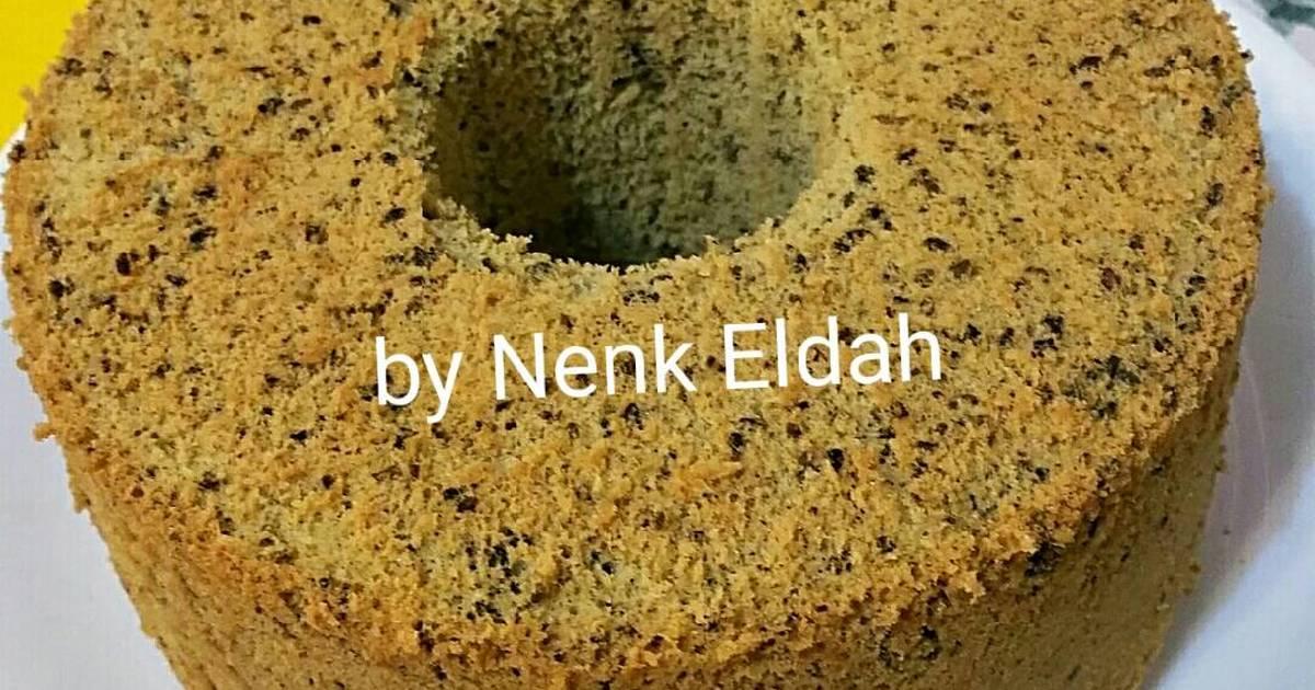 Resep Chiffon cake black sesame seed