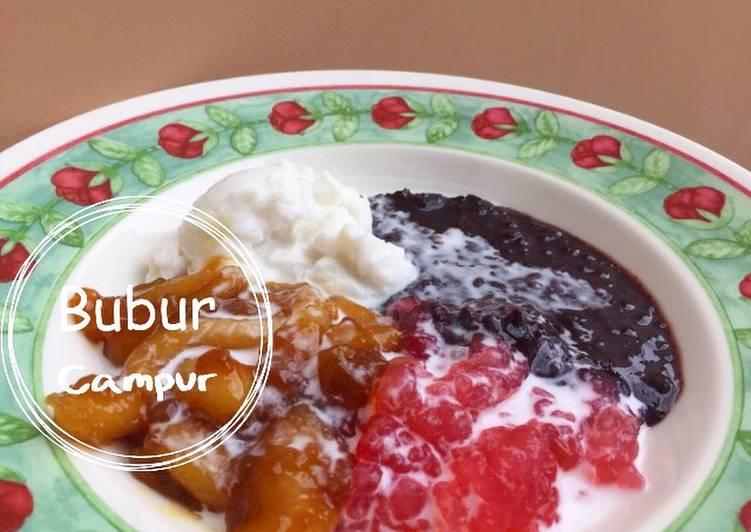resep lengkap untuk Bubur campur manis gurih (bubur madura)