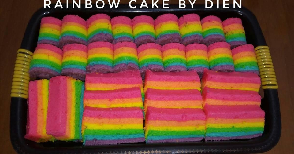 Resep Rainbow Cake Kukus Ny Liem Bikinramadanberkesan Oleh Dapur