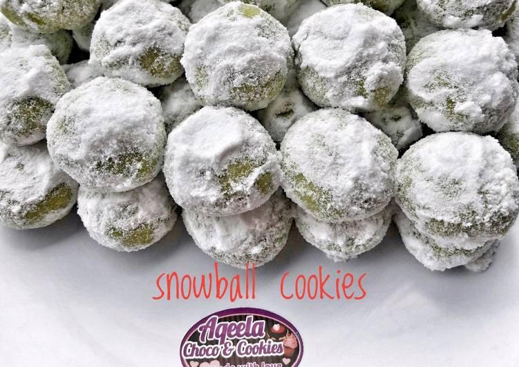 Snowball cookies(putri salju pandan)