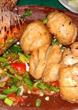 Bakso penyet sambal bawang