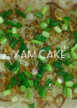 Steamed Yam cake / orh kueh