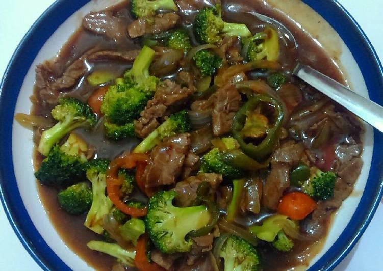 Tumis Daging Sapi Brokoli Saos Teriyaki Simple