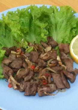 Sapi Panggang Lada Hitam (Diet Mayo)