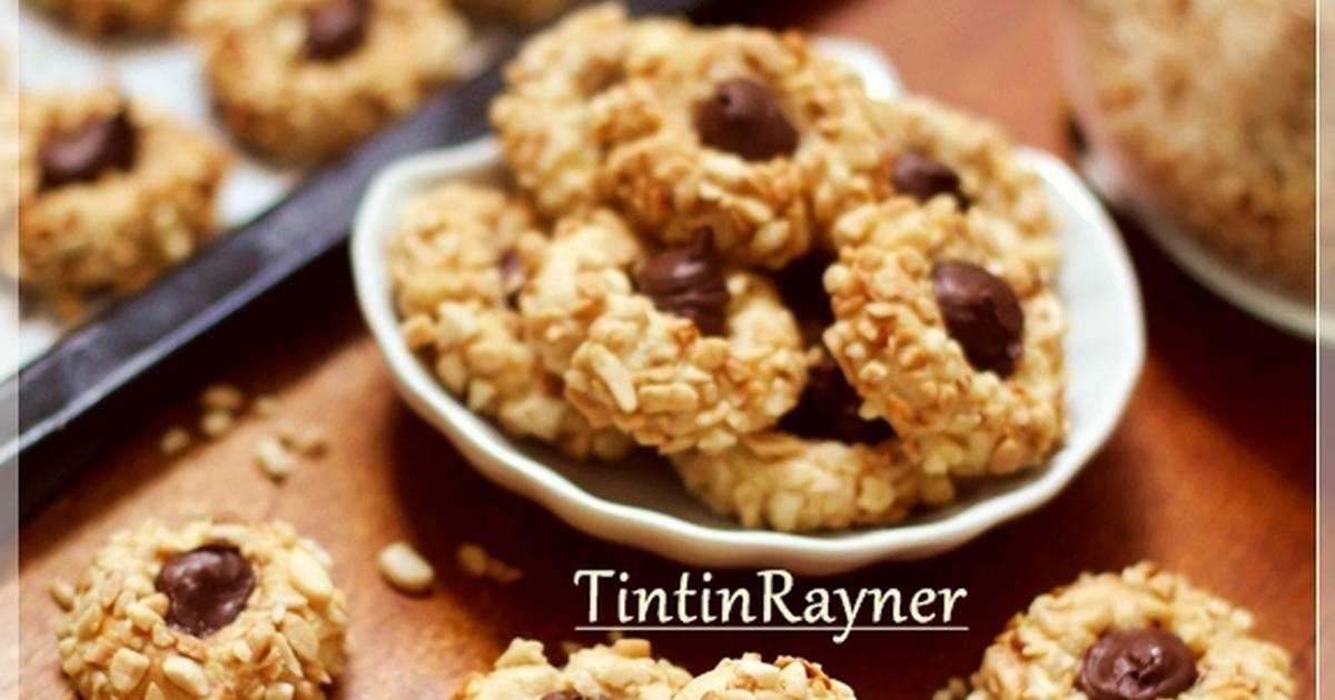 Resep Peanut Choco Thumbprint Cookies renyah+step by step