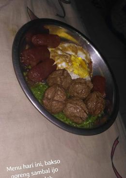Bakso goreng sambal ijo