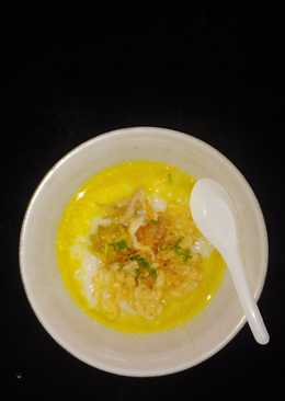 Bubur ayam nekat (menu puasa 1/2 hari anak)