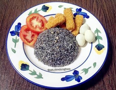 Nasi Goreng Hitam Simple Nugget Seafood #PR_BukanNasiBiasa