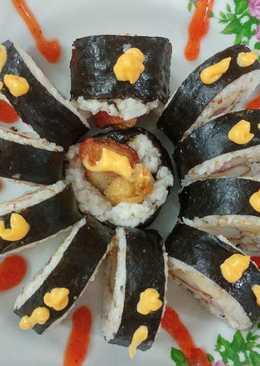 Healthy Spider Flaxseed Sushi Roll (Nasi Gulung Laba Laba)