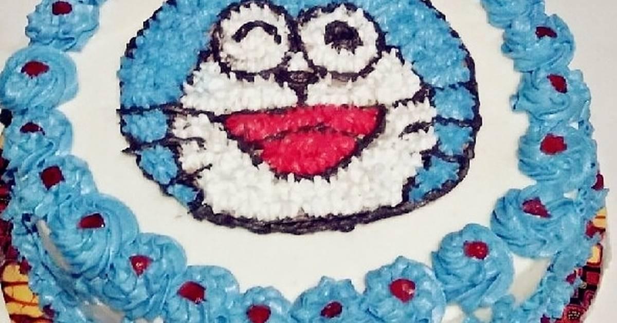 32 Resep Kue Ulang Tahun Doraemon Enak Dan Sederhana Cookpad
