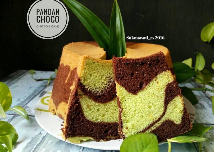 Pandan Choco Chiffon Cake