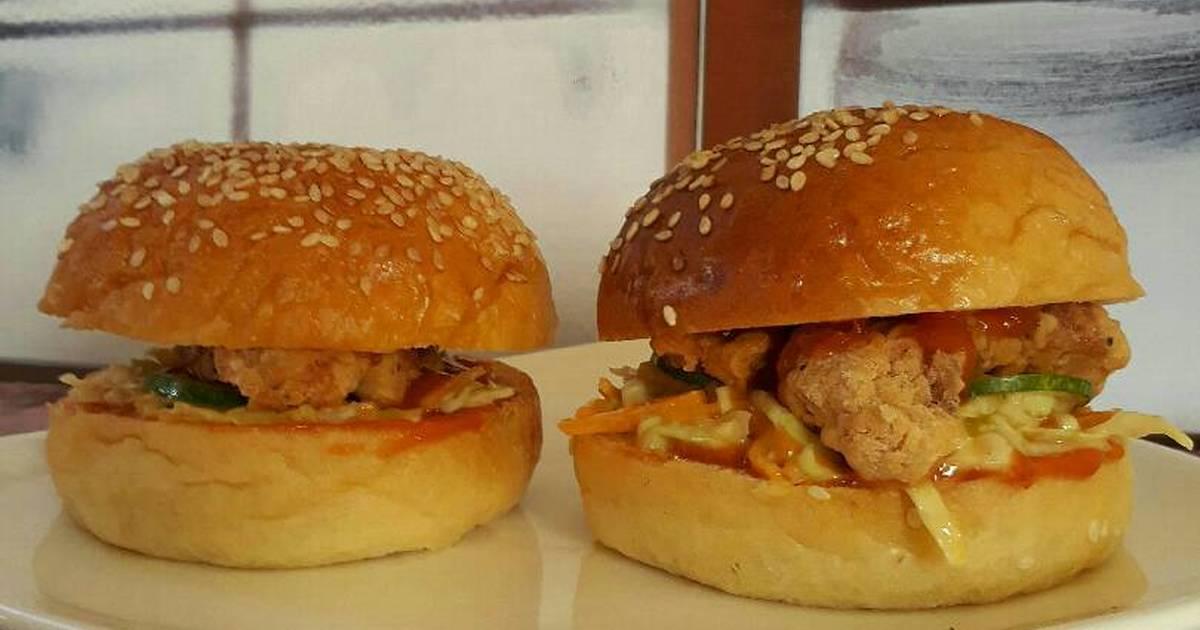 33 resep roti hamburger kukus enak dan sederhana   cookpad