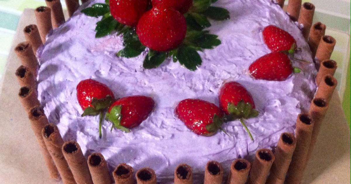 Resep Cake Kukus Taman Strawberry