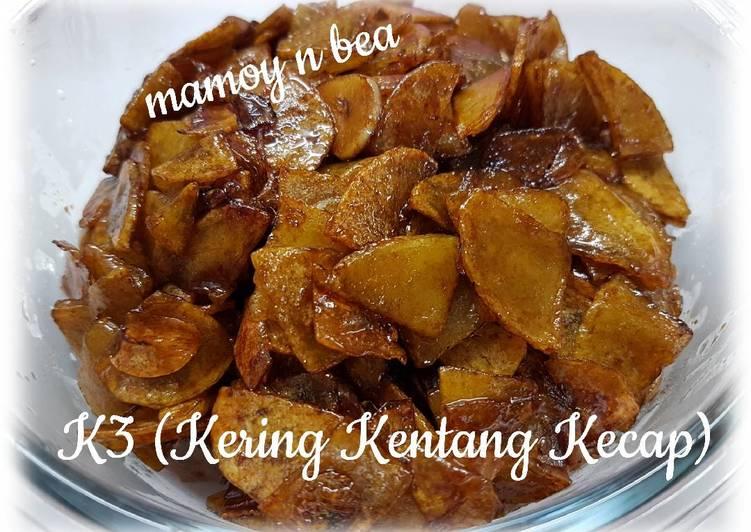 yang dibuat oleh Mamoy n Bea dapat disajikan  Resep K3 (Kering Kentang Kecap) Dari Mamoy n Bea