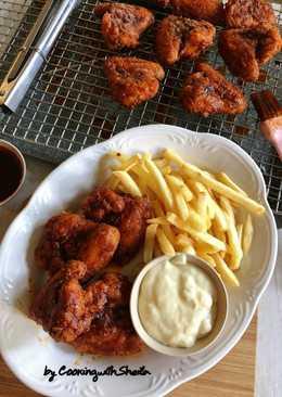 Homemade Hot Fire Chicken Wings