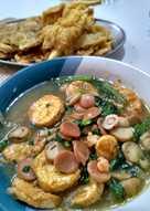 Tumis Campur Jamur Merang + Egg Tofu