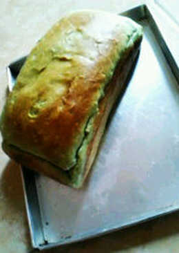 Roti tawar green tea#beraniBaking