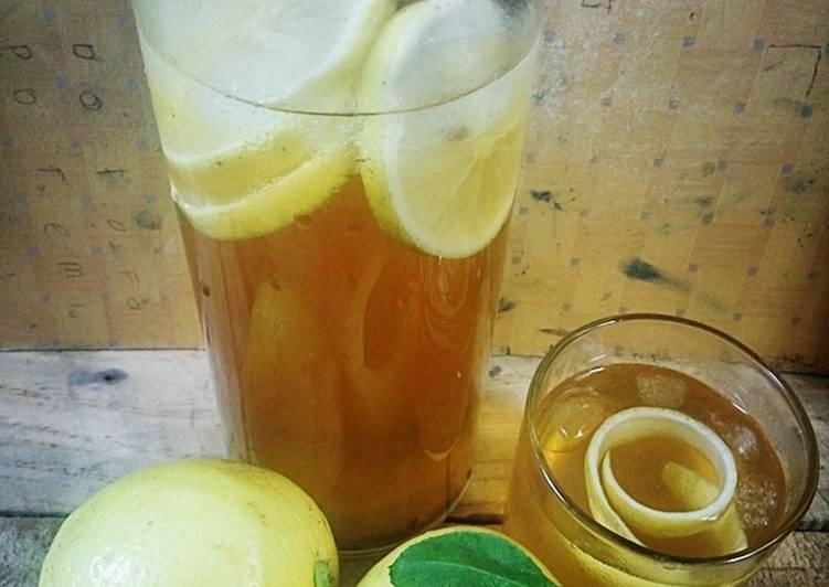 Ice Lemon tea 🍋 #BikinRamadanBerkesan