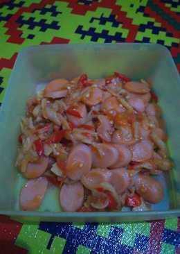 Tumis jamur, bakso, sosis ala anak kos